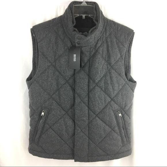 375d0f4dc1b Hugo Boss Jackets & Coats | Virgin Wool Blend Quilted Vest | Poshmark